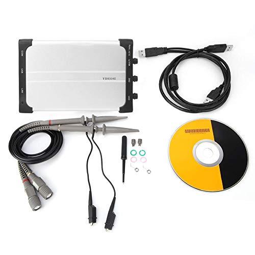 【𝐏𝐚𝐬𝐜𝐮𝐚】 Osciloscopio virtual multicanal, Owon VDS3102 100MHz 2 + 1 Osciloscopio virtual USB multicanal 1 GS/s