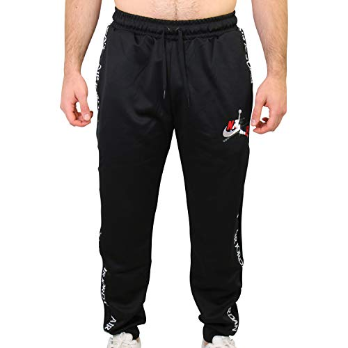Nike CT9373-010, Pantaloni Sportivi Lunghi Uomo, Black/Gym Red/White, XL