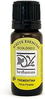 Herbarom Aceite Esencial Bio de Trementina   Aceite Esencial Puro de Trementina, Inmuniestimulante, Antiséptico, Expectorante y Oxigenante Celular, 10 ml