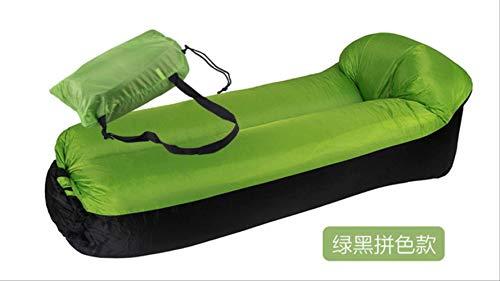 STARKWALL Gonflable Air Canapé Sac De Couchage Extérieur Jardin Meubles Plage Chaise Longue Fauteuil Pliant Lazy Canapé Lit Vert