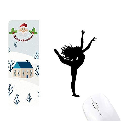 Alfombrilla para ratón de casa de Papá Noel con diseño de bailarín...