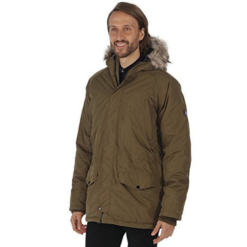 Regatta Waterproof Salton Men's Outdoor Hooded Jacket available in Camo Green - Medium