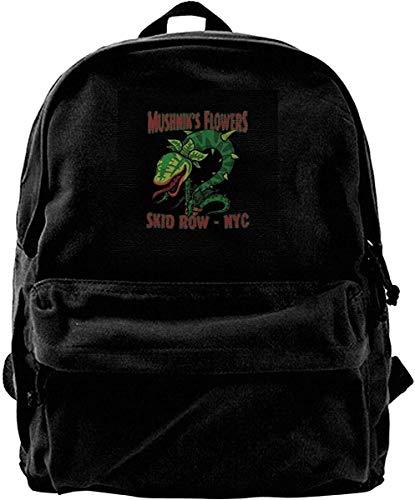 Yuanmeiju Zaino di tela Mushniks Flowers Skid Row NYC Little Shop of Horrors Zaino Palestra Escursionismo Borsa a tracolla per laptop Zainetto per uomo Donna