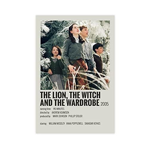 Leinwandposter 'The Chronicles of Narnia', der Löwe, die Hexe und der Kleiderschrank, minimalistischer Film 247, Schlafzimmer, Dekoration, Sport, Landschaft, Büro, Raumdekoration, Geschenk, 40 x 60 cm