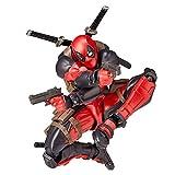 WQLESO Deadpool X-Men Figuras de acción móviles Modelo de Personaje de Cara Variable Vengadores Muñecas de Juguete articuladas,Deadpool B