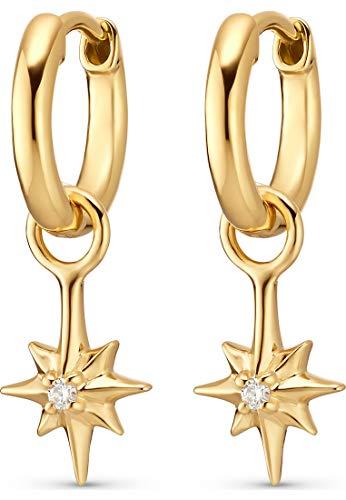 Guido Maria Kretschmer Damen-Creolen Guido Maria Kretschmer 925er Silber One Size Gold 32012791