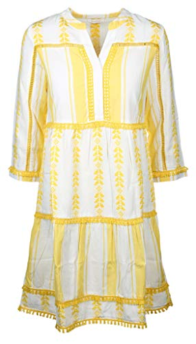rich&royal Damen Dress Embroidered Kleid, Gelb (Spring Gold 337), (Herstellergröße: 38)