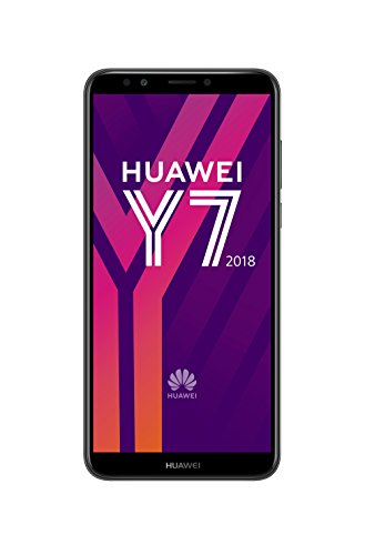 Huawei Y7 - Smartphone (15,2 cm (5,99 pollici), display FullView, memoria interna 16 GB, Dual SIM, Android 8.0), colore: Nero