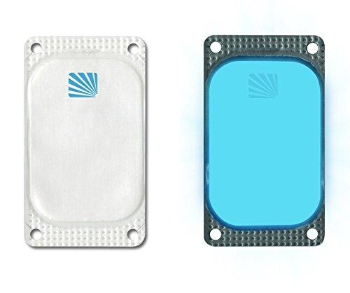 Cyalume Carton de 250 Balises Lumineuses Adhésives Rectangulaires Visipad Bleu 10 Heures