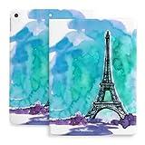 10.2 Estuche para iPad 8th Generation 2020 / fit iPad 7th Gen 2019, Paris Tower Impresión de Ilustraciones en Papel de Acuarela con portalápices [Dormir/Despertar] Funda Protectora de Soporte magné
