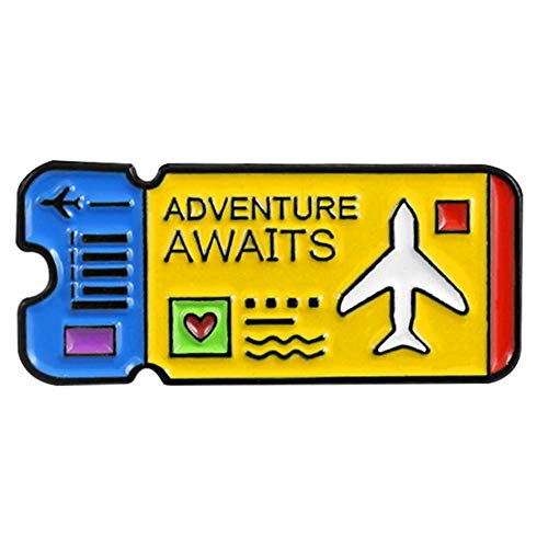 Ahomi Creatief vliegtuig ticket badge broche unisex kleding rugzak pins sieraden