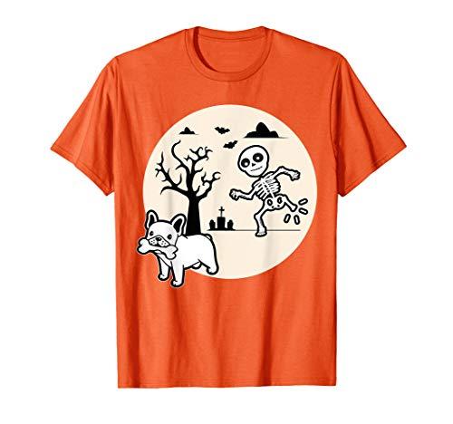 French Bulldog Dog Skeleton Bone Halloween Costume Dog Owne T-Shirt