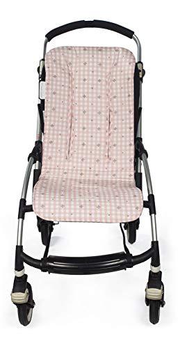Pasito a Pasito. Yummi - Materassino per passeggino e carrozzina, anti-sudorazione per l'estate, universale, compatibile con la maggior parte dei passeggini, colore: rosa