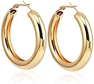 46ace454d Moda Accessories Stylish Big Circle Wide Hoop Earrings For Girls & Women