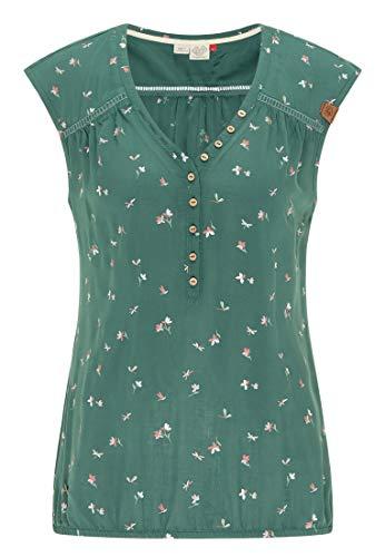 Ragwear Damen Salty A Kurzarmbluse grün XL