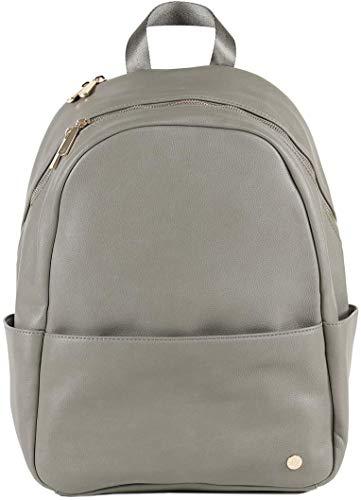 Little Unicorn Skyline Backpack – Diaper, Work, Travel Bag - Premium Vegan Leather– Changing Pad Included – Lightweight & Durable Design– Ergonomic Fit – 5 Interior Pockets– Wipes Clean (Grey Umber)