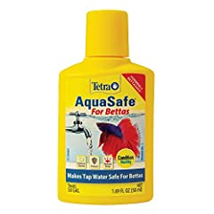 WATER CONDITIONER: Makes tap water safe for bettas and other ornamental fish. REDUCES STRESS: Neutralizes harmful chlorine, chloramines, ammonia and heavy metals in aquarium water. FAST-ACTING: Works in seconds. COMPLETE FORMULA: Use when setting up ...