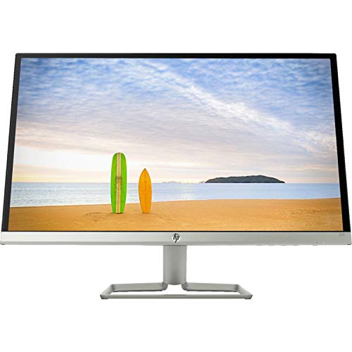 HP 25' 25f Dual HDMI VGA 1080p Widescreen Ultra Slim Monitor LED IPS LCD w/AMD FreeSync - Silver Black - 2XN61AA (Renewed)