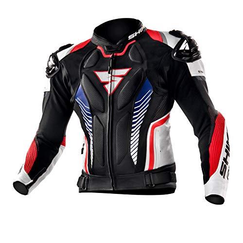 SHIMA Apex, Motorradjacke Red Fluo Lederkombi Motorradbekleidung Zweiteiler Motorradkombi Motorradanzug, (48-58, Rot Fluo), Größe 50
