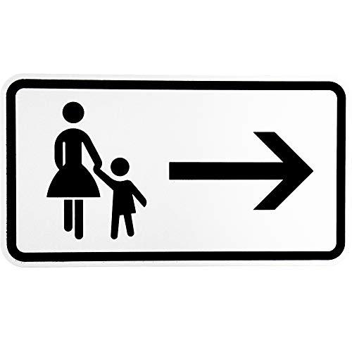 """BauSupermarkt24 ORIGINAL Verkehrsschild Nr. 1000-22"""" Fußgänger Gehweg rechts gegenüber benutzen Verkehrszeichen Schild Straßenschild Zusatzschild Verkehrsschilder Verkehrsschild Straßenzeichen"""