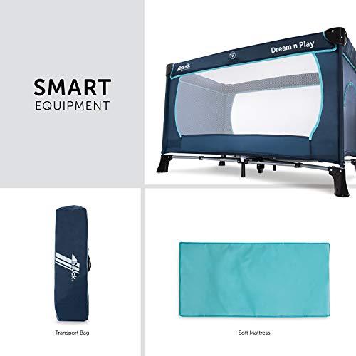 Hauck Kinderreisebett Dream N Play Plus, inkl. Hauck Reisebettmatratze, tragbar und klappbar, 120 x 60 cm, blau - 3
