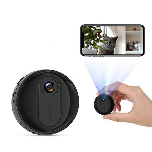 Mini Kamera, 1080P HD Kleine Kamera WiFi Mini Überwachungskamera Tragbare Kabellose Magnet Nanny Cam mit Infrarot Nachtsicht Bewegungserkennung für den Außen- und Innenbereich