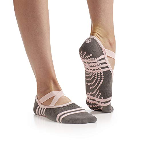 Gaiam Yoga Barre Socks Non Slip Sticky Toe Grip Accessories for Women & Men Pure Barre, Yoga, Pilates, Dance One Size Fits Most, Ballet