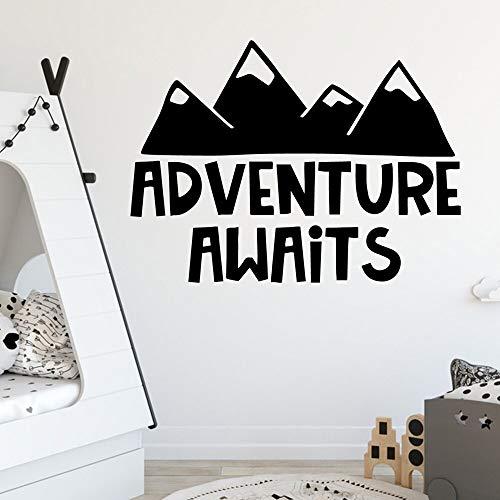 JXMN DIY Cute Adventure aguarda Tatuajes de Pared Sala de Estar Mural extraíble para habitación de niños decoración de guardería decoración de Pared Mural 51x68cm