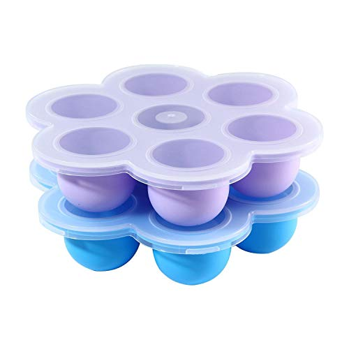 Silicone Egg Bites Molds Instant Pot of 5/6/8 qt Pressure Cooker Baby Food Storage Container for Cooking Home Microwave Oven Refrigerator