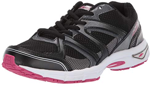 Avia Women's Avi-Execute II Sneaker, Black/Metallic Iron Grey/Jubilee Pink, 7 Wide US