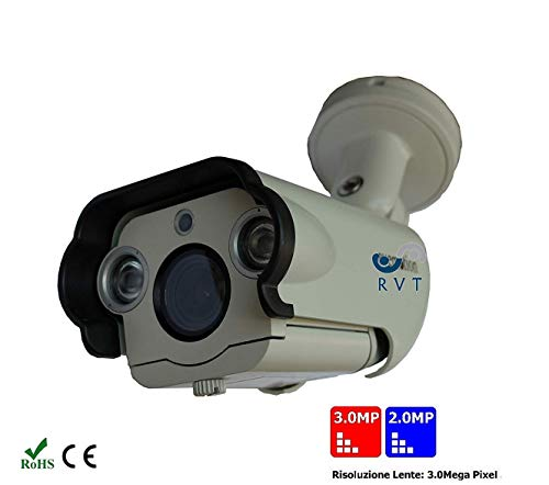 Telecamera Varifocale Full HD 2 mega pixel lettura targhe lente 3 mpx 2,6-12 mm 2 potenti big led array ottima visione 50 metri notturna alimentatore omaggio