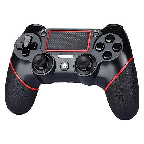 KINGCON Controller PS4 Wireless Gamepad per Playstation 4, doppia vibrazione, barra luminosa a LED, impugnatura antiscivolo