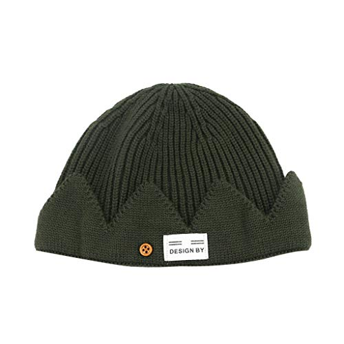 Affordable Kiminana Knit hat Wool Melon Leather Cap Warm Headgear Beanie Hats Winter Knitted Caps So...
