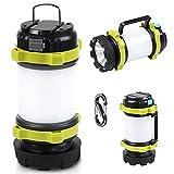 Lanterna da Campeggio LED Ricaricabile Lanterna da Campeggio Portatile IP45 Impermeabile 10W con 4 Modalità Escursione Pesca Cavo USB e Caricatore per Auto Inclusi