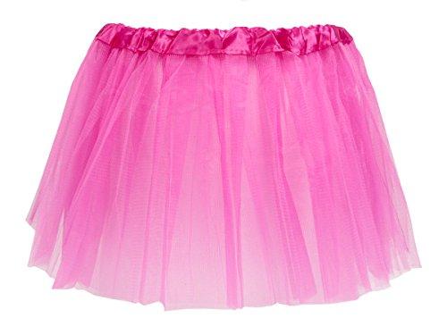 Alsino Tüllrock Mini Tütü Rock Minirock 50er 60er Jahre Ballettrock Tutu Tüllröckchen elastischer Bund, Variante wählen:LG0270 pink
