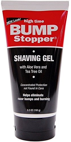 High Time Bump Stopper Shave Gel W/Aloe & Tea Tree Oil 5.3 oz by High Time