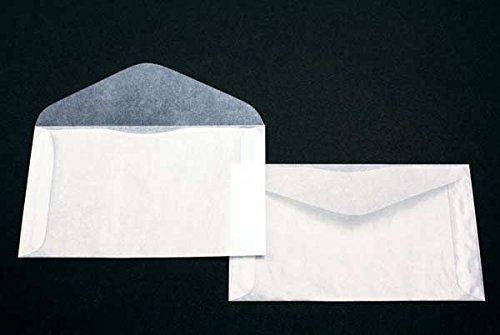 Premium Glassine #5 Envelopes by JBM Glassine; Measures 6' x 3-1/2' - Pack of 100