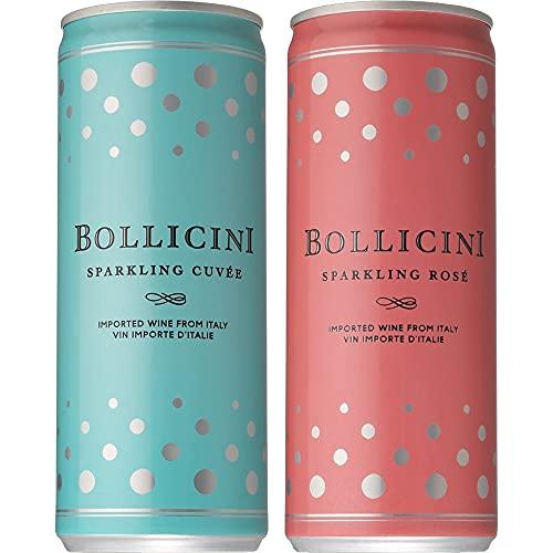 【アメリカで話題の缶入 スパークリングワイン】 ボッリチーニ 白 ロゼ 6缶飲み比べセット [ NV スパークリング アメリカ 250ml×6本 ]