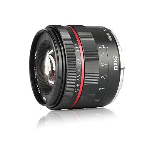Meike 50mm F1.7 Large Aperture Manual Focus Prime Lens for Olympus Panasonic Lumix M4/3 MFT Mount Cameras and BMPCC