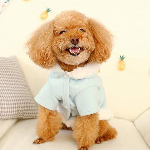 LKIHAH Leuke Kleine Hond Kleding Kleine Medium Hond Huisdier Wol Jas Kleding in Koud Weer Geel Eend Patroon