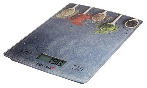 Korona 70210 Küchenwaage Lotta - bis 5 kg Tragkraft, Zuwiegefunktion, 1 gr, digital, Motiv