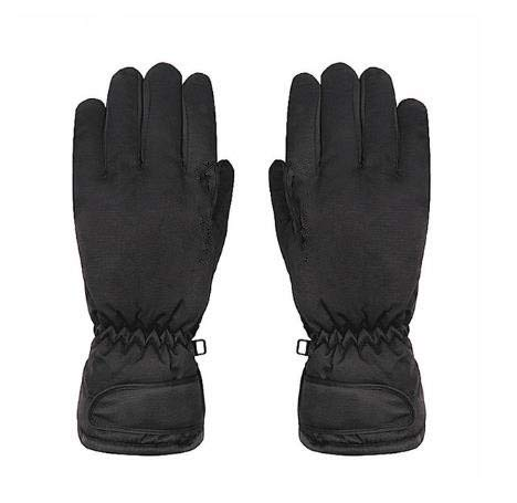 Guantes de Lana cálidos e Impermeables para Hombre de Snowboard de esquí de Invierno - Negro, Talla L-Men