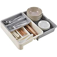 Soffiya Flatware Drawer Organizers with 7 Compartments
