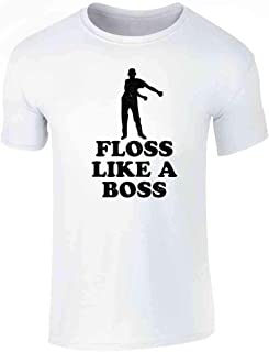 Floss Like A Boss Dance Silhouette Funny Graphic Tee T-Shirt for Men