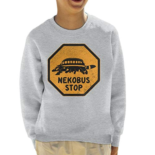 Cloud City 7 Nekobus Stop Sign My Neighbor Totoro Kid's Sweatshirt
