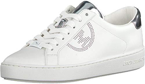 Michael Kors Sneaker Low Weiss Damen Sportschuhe Laufschuhe Turnschuhe Hausschuhe Keaton Lace Up Leder-Optik - 37 EU