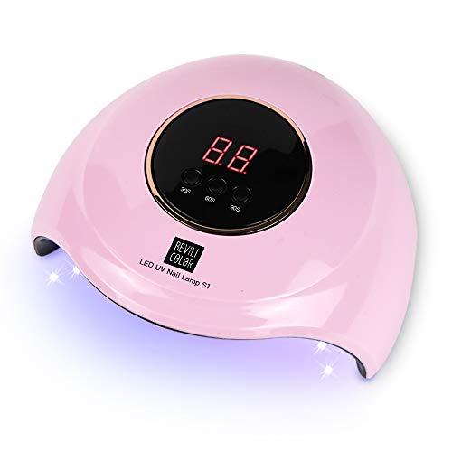 Lámpara LED UV para Uñas, Queta Secador de Uñas de Gel con Pantalla LCD Lámpara de Uñas 36W con Sensor Automático de 2 Temporizadores para Uñas y Uñas de Pies (rosa)