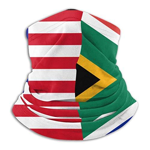 Alive Inc Multifunktionsschutz Gesichtsmaske Halb USA Halb Südafrikanische Flagge Sturmhaube Mikrofaser Halswärmer Halsmanschette
