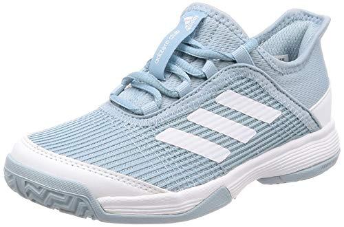 adidas Unisex-Kinder Adizero Club K Tennisschuhe, Grau (Ash Grey S18/Ftwr White/FTWR White Ash Grey S18/Ftwr White/FTWR White), 35 EU
