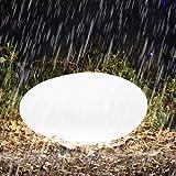 Homever Lampe Solaire Extérieur, 40 cm Lumière solaire de pelouse avec Télécommande, Réglable 16 Couleurs et 4 Modes d'Éclairage, Solaires actionnées pour le Jardin